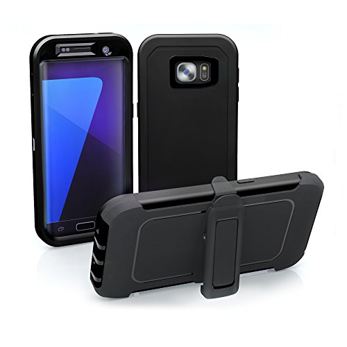 quality design b74a6 dba13 Galaxy S7 Edge Case, ToughBox [Armor Series] [Shock Proof] for Samsung  Galaxy S7 Edge Case [Built in Screen Protector] [With Holster & Belt Clip]  ...